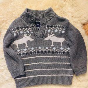 Cherokee Gray Reindeer Sweater 18M
